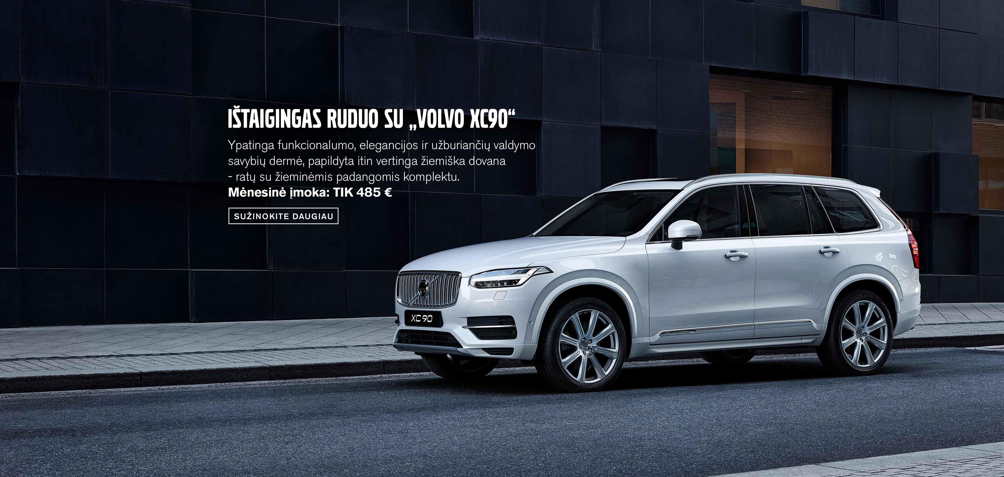 """Ištaigingas ruduo su """"Volvo XC90"""""""
