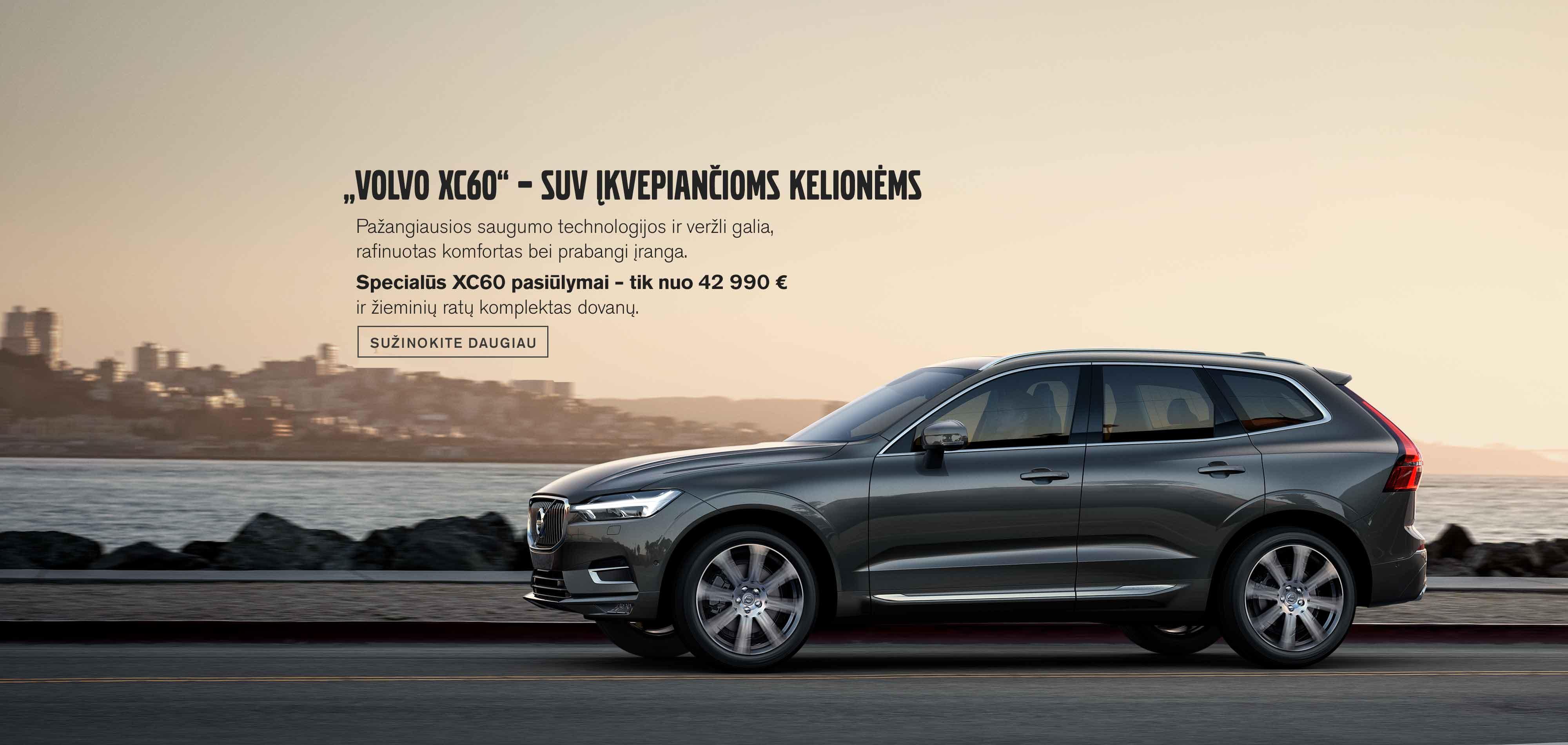 """""""Volvo XC60"""" – SUV įkvepiančioms kelionėms"""