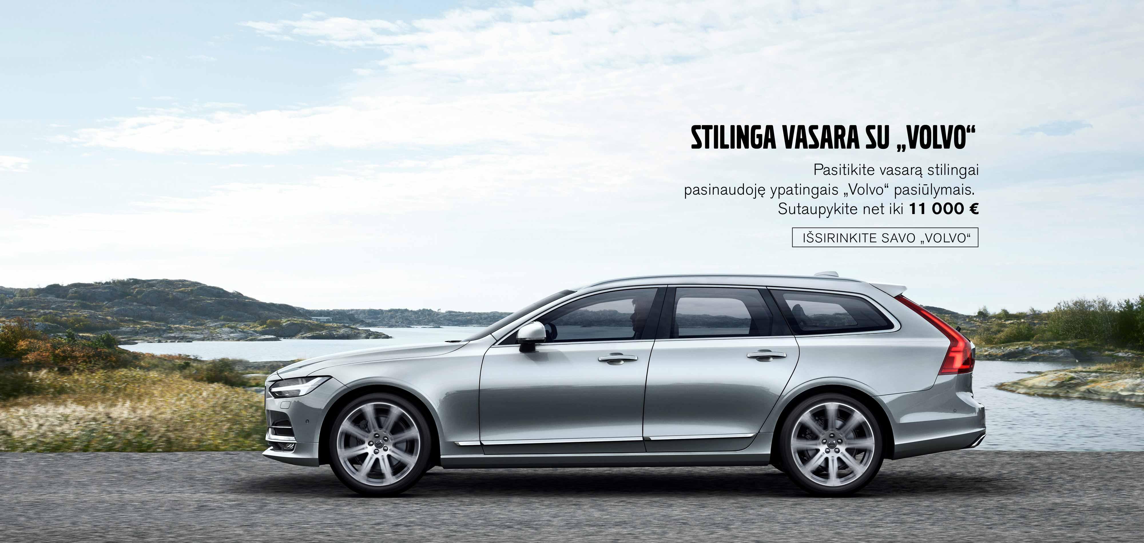 """Ypatingi """"Volvo"""" pasiūlymai"""