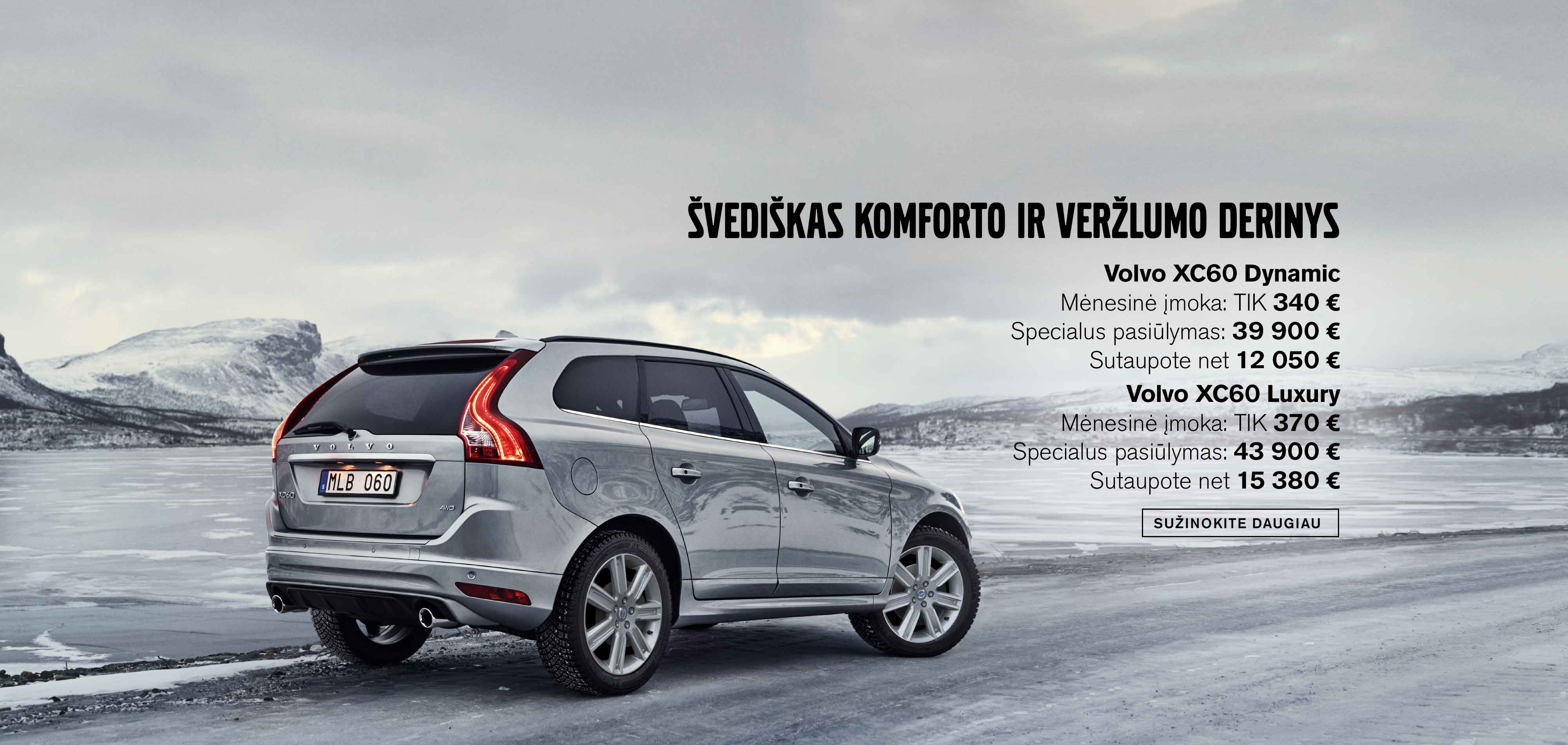 Volvo XC60 Dynamic ir Luxury