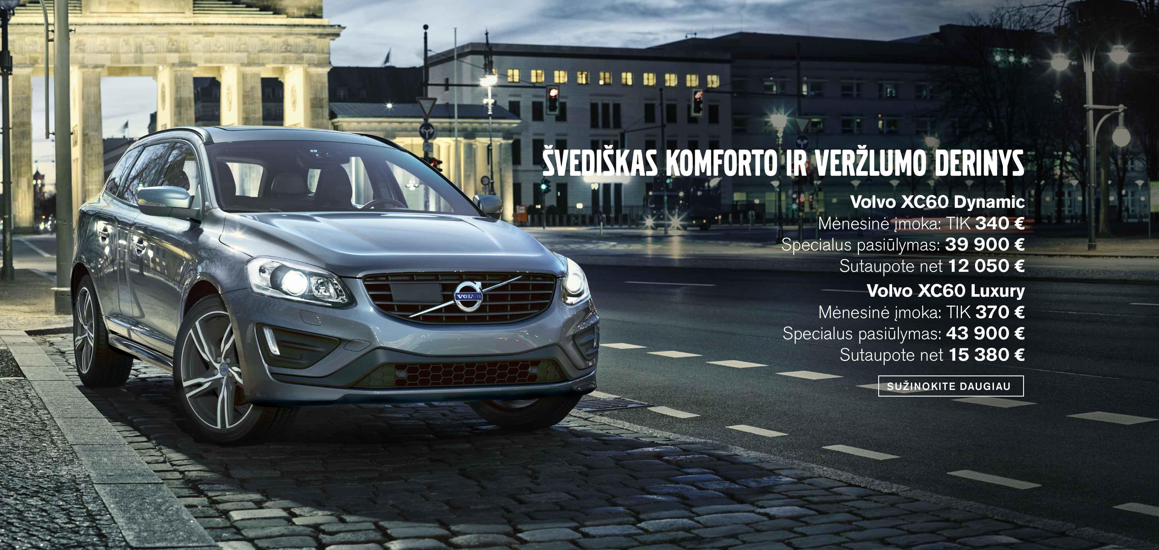 Volvo XC60 Dynamic ir Luxury