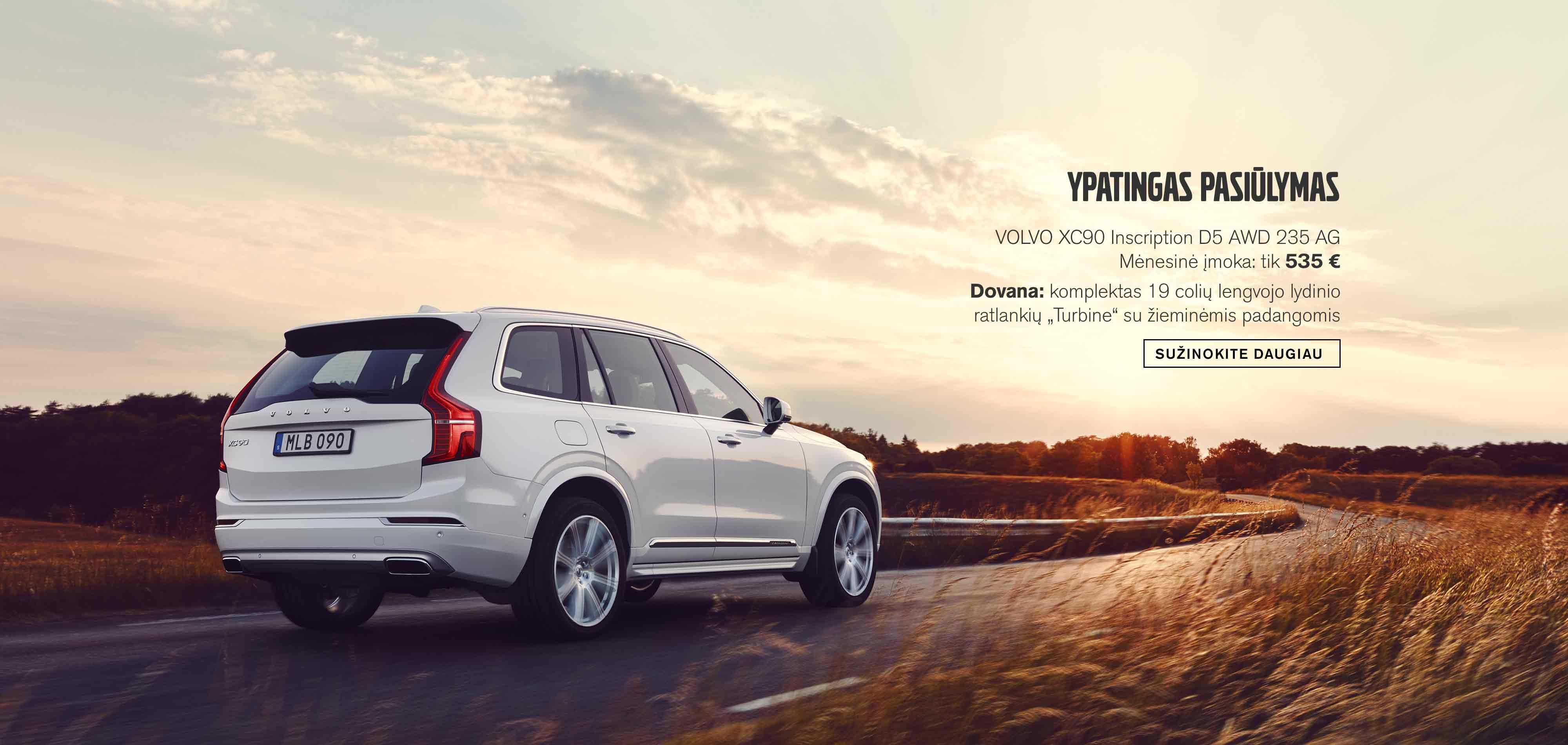 Volvo XC90 Ypatingas pasiūlymas